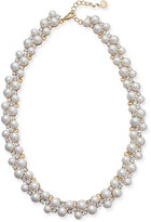 Charter Club Gold-Tone Imitation Pearl and Crystal Collar Necklace, Only at Macy's