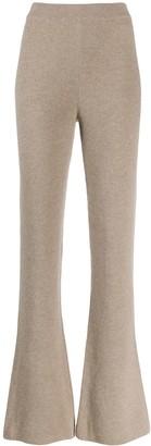 Nanushka flare knit trousers