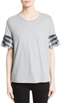Burberry Women's Covelas Ruffle Sleeve Tee