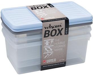Wham 9 Litre Plastic Storage Boxes (Set of 3)