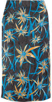 Marni Ryon Printed Satin Skirt - Blue