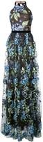 Marchesa embroidered hydrangea gown