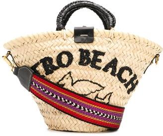 Etro Logo Raffia Tote Bag