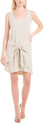 DREW Morgan Linen-Blend Shift Dress