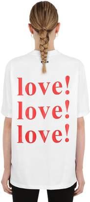 MSGM LVR EXCLUSIVE LOVE PRINT JERSEY T-SHIRT