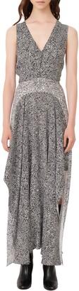 Maje Mix Print Sleeveless Maxi Dress