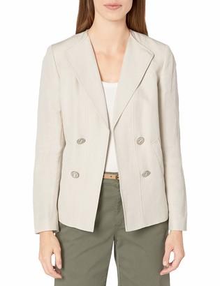 Kasper Women's Double Breasted Linen Jacket
