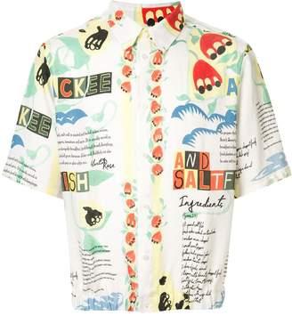 Martine Rose print detail shirt