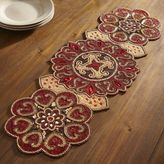 Pier 1 Imports Crimson Medallion Beaded Table Runner - 36""