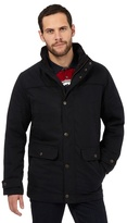 Maine New England Big And Tall Black Six Pocket Coat