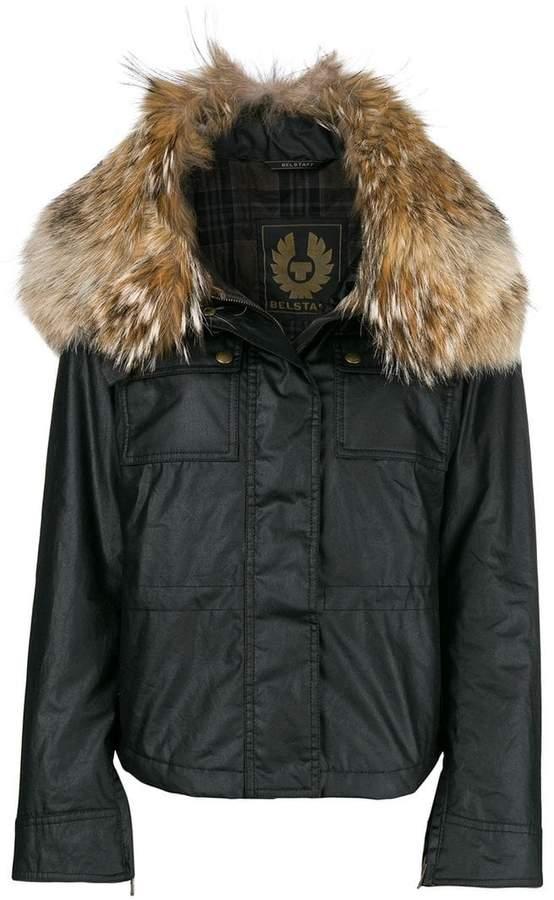 Belstaff fur collar zipped jacket
