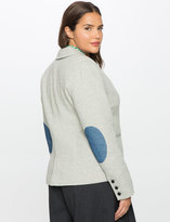 ELOQUII Plus Size Elbow Patch Blazer