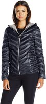 Laundry by Shelli Segal Women's Chevron Packable Down Jacket and Bag