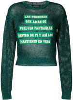 Each X Other glitter-effect slogan sweater