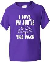 Print4U I Love My Auntie This Much Boys Girls T Shirt 3-4
