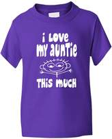 Print4U I Love My Auntie This Much Boys Girls T Shirt 5-6