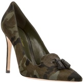Gianvito Rossi camouflage tassel pump