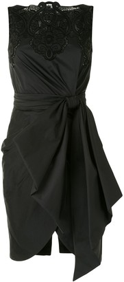 ZUHAIR MURAD Lace-Yoke Draped Dress