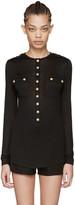 Balmain Black Pockets Pullover