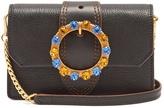 Miu Miu Crystal-embellished leather cross-body bag