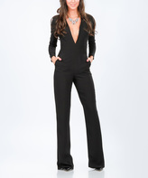 Grazia Black V-Neck Jumpsuit