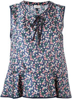 Moncler floral flared blouse - women - Silk - 40