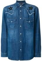 Just Cavalli star patch denim shirt