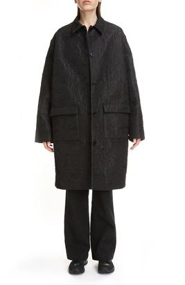 Cecilie Bahnsen Megan Floral Quilted Faille Cocoon Coat