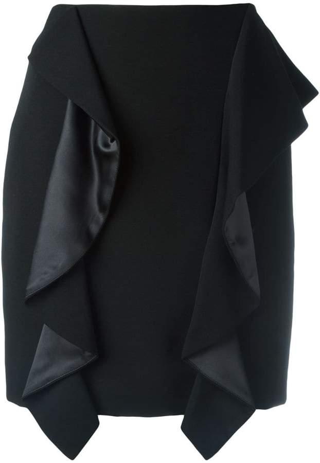 Givenchy draped panel mini skirt