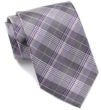 Calvin Klein Glen Plaid Silk Tie