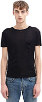 Saint Laurent Men's Washed Silk Jersey T-shirt From Ss15 In Black