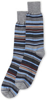 Lorenzo Uomo Wool Stripe Crew Socks