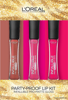 L'Oreal Infallible Holiday Matte Gloss Trio Set
