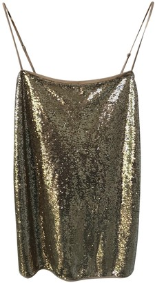 Free People Gold Glitter Dresses