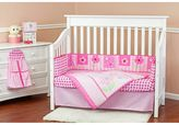 Dream On Me Pink Butterfly & Flower 5-pc. Crib Bedding Set