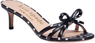 Kate Spade Swing Polka-Dot Napa Kitten-Heel Sandals