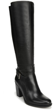 Naturalizer Kelsey Wide Calf Leather Riding Boots Women's Shoes
