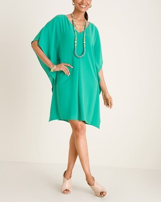 Adrianna Papell Teal Cold-Shoulder Dress