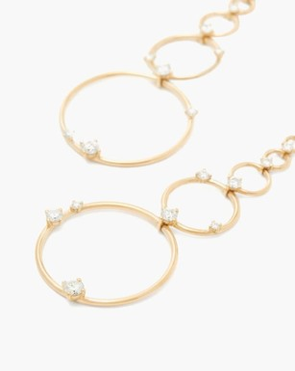 Fernando Jorge Aerial Loops Diamond & 18kt Gold Drop Earrings - Gold