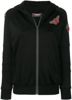 Jo No Fui beaded hooded jacket