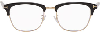 Tom Ford Black Blue Block Shiny Browline Glasses