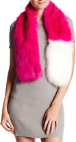 Free Press Two-Tone Faux Fur Oblong Scarf