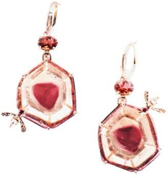 Sharon Khazzam Bee 18K Rose Gold, Pink Tourmaline & Diamond Drop Earrings