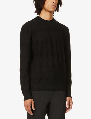 Emporio Armani Textured stretch-knit jumper