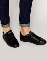 Fred Perry Hopman Leather Trainers - Black