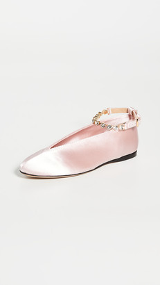 J.W.Anderson Rhinestone Anklet Ballet Flats