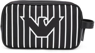 Emporio Armani Striped Logo Print Wash Bag