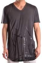 Tom Rebl Men's Black Cotton T-shirt.
