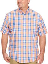 Izod Breeze Shirt Short Sleeve Button-Front Shirt-Big and Tall
