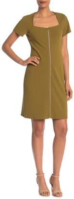 Nanette Lepore Square Neck Shift Dress